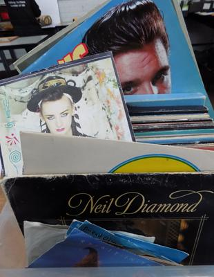 Large selection of LPs and singles, approx 42 LPs and 8 singles