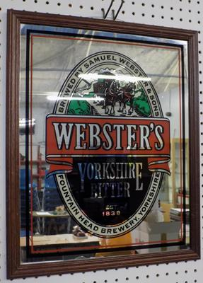 Websters Yorkshire Bitter advertising mirror
