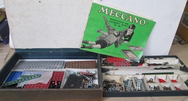 Large box of Meccano 1950's/1960's