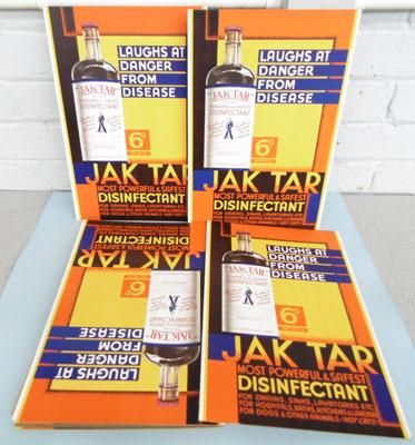 Original WWII advertising boards 'Jaktar' disinfectant