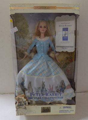 Boxed Barbie Peter Rabbit 100 year celebration