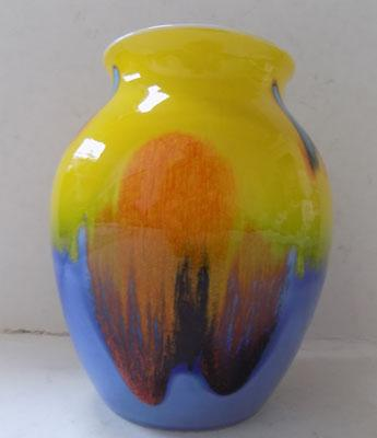 Poole pottery living glaze Abstract small  classic vase