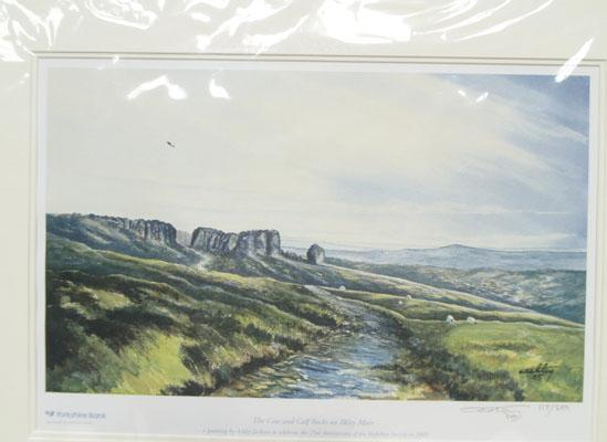 Genuine Ashley Jackson print of Cow & Calf rocks on Ilkley Moor 117/250 - signed