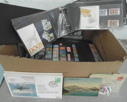 Very good box of stamps, albums etc