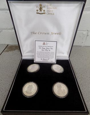 Boxed set of 4 silver proof coins - Eighty Glorious Years