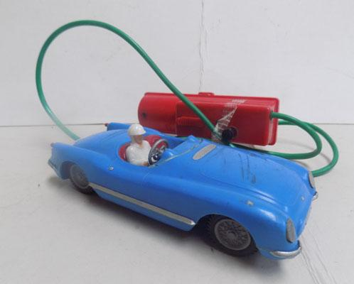 Battery operated vintage racing car