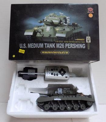 130 Scale remote control US medium tank M26 Pershing good condition w/o