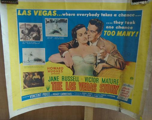 Film poster-The Las Vegas story, Jane Russell & Victor Mature