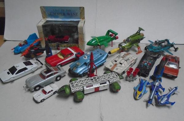 Selection of vintage die cast models  Dinky, Corgi, Thunderbirds, Last of the Summer wine, Superman car, Batman helicopter