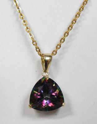 9ct Gold Mystic Topaz necklace
