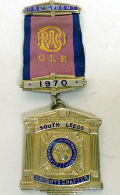 9CT Gold Plated Silver RAOB President Medal