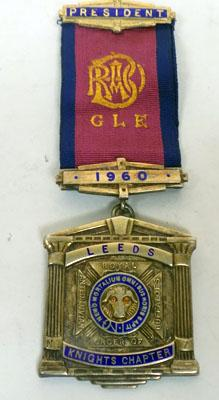 9CT Gold Plated Silver RAOB Leeds President Medal