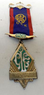 9CT Gold Plated Silver RAOB DPGP Medal