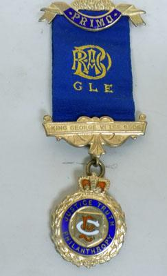 9CT Gold Plated Silver RAOB King George VI Lodge Medal