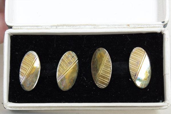 Pair of solid silver cuff links
