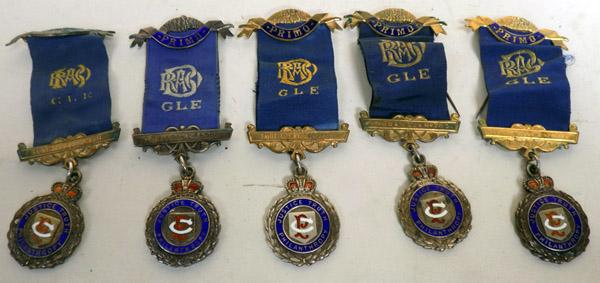 Collection of RAOB Silver Medals
