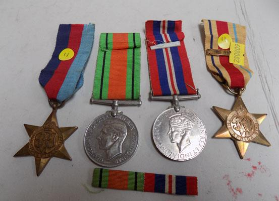 WWII British Army medal group inc African Star