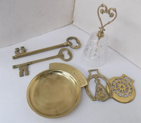 Selection of brass, incl. brass keys