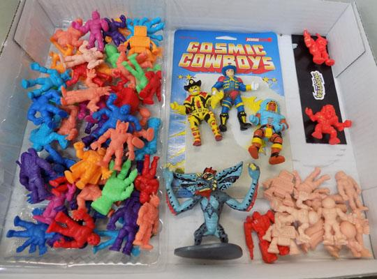 80's various mini figures-cosmic cowboys