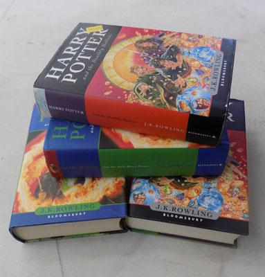 4x Harry Potter 1st Edition hard back books