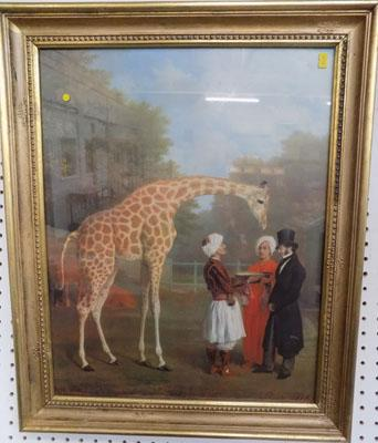 Print - 'The Nubian Giraffe' 1827, Jacques Laurent Agasse