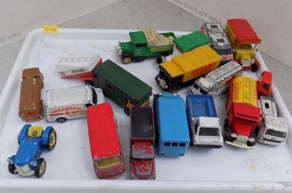 17 vintage die cast cars