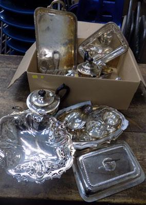 Box of EPNS/silver plate items