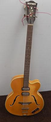 Hofner bass guitar