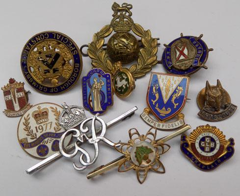Selection of badges & brooches