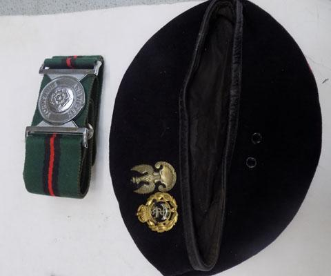 Yorkshire regiment belt & cap