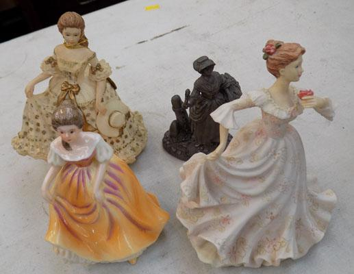 Leonardo collection - Hannah, Allison, pewter, Lavender Girl, bone china lady