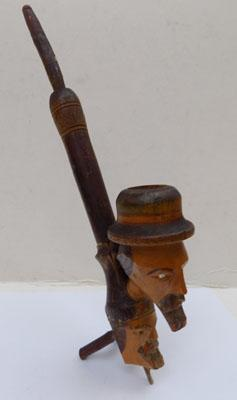 Vintage Italian double headed pipe