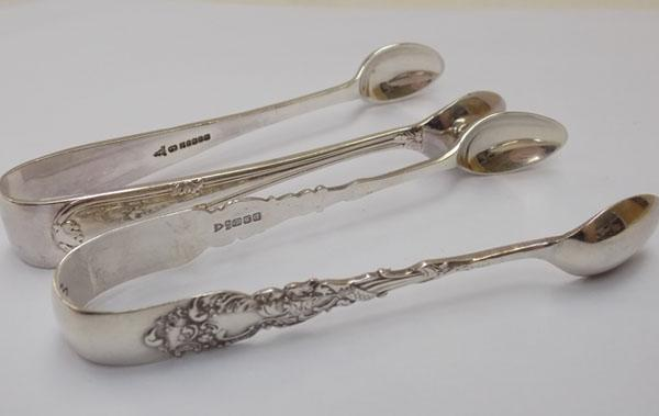 2 x pairs of sugar tongs