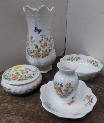 5 pieces of Aynsley cottage garden