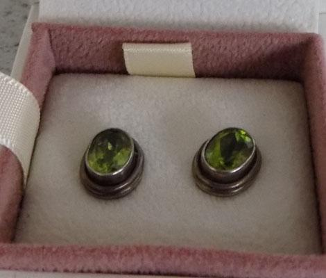 Peridot/ sterling silver earrings