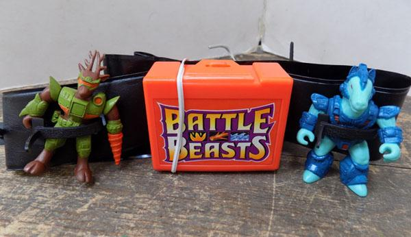80's battle beast belt and two figures