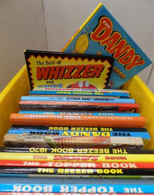 Box of childrens annuals including Dandy