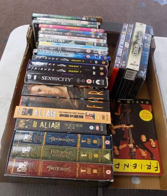 Box of DVD's inc box sets