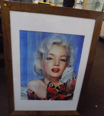 Limited edition original painting of Marilyn with Butterflies (1 of 125)