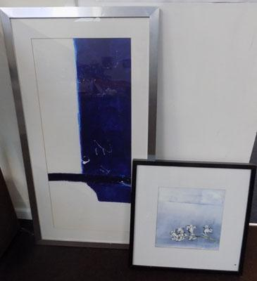 2 contemporary framed prints