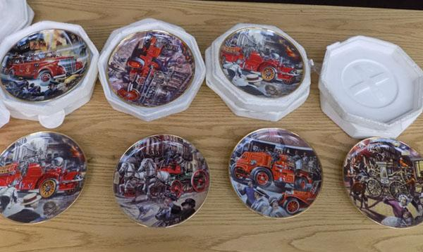 7x fire related plates