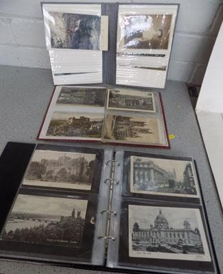Three postcard albums