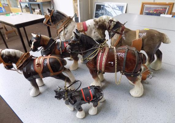 Selection of china horses
