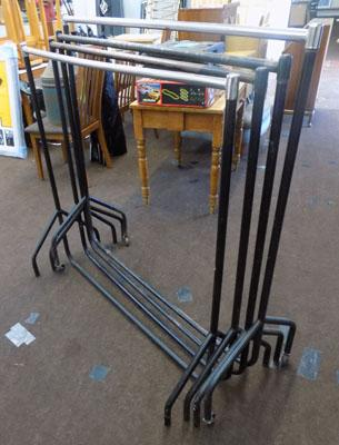 Set of 4 clothes rails