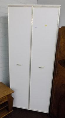 Double white wardrobe