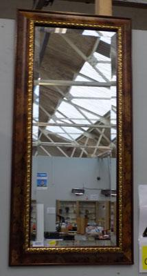 Walnut bevelled edge mirror