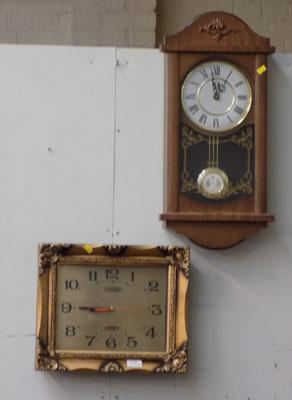 2x Wall clocks