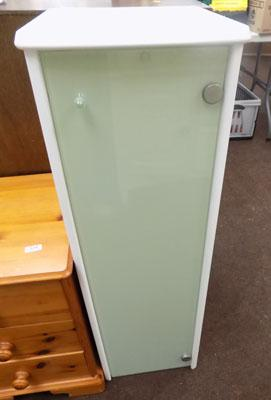 Glass fronted bathroom cabinet