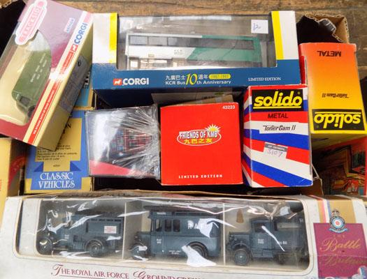 1x box of collectable vehicles incl Corgi & Solido