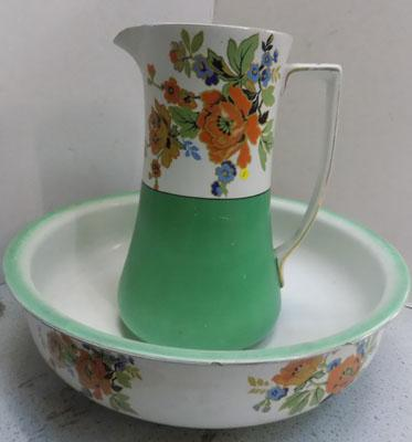1930's jug and bowl set